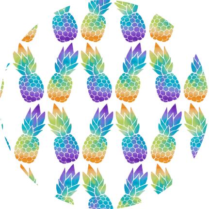Luna Lotus Print Design Pineapples