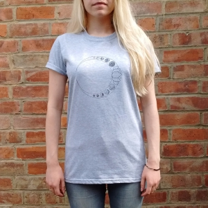 Luna Lotus Grey T-Shirt