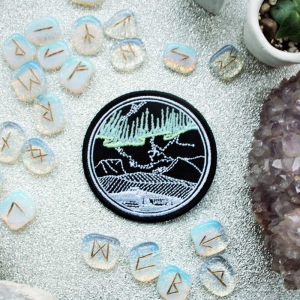 Northern Lights Glow in the Dark Iron On Embroidered Patch
