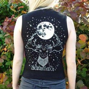 Stag Moon Goddess Vest