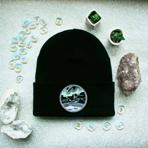 northern lights glow in the dark hat