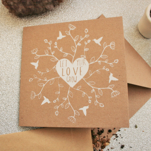 Let Your Love Grow Valentine's Day Card Wildflower Seeds