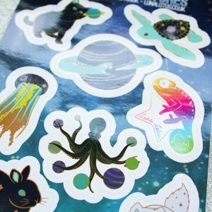 Celestial Creatures Vinyl Sticker Sheet