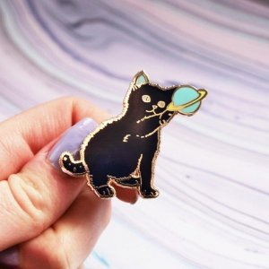 Space Kitten Hard Enamel Pin