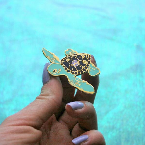 Space Turtle Hard Enamel Pin