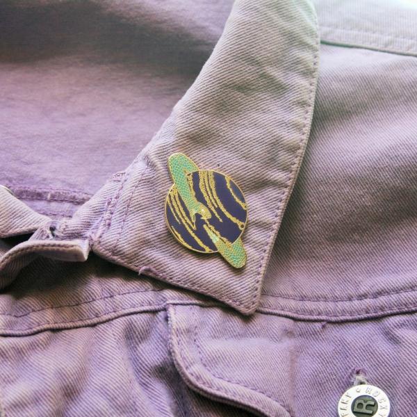 Saturn Snake Hard Enamel Pin