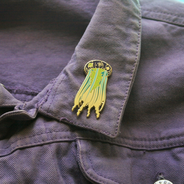 Galactic Jellyfish Hard Enamel Pin