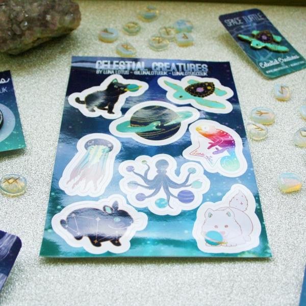 Celestial Creatures Vinyl Sticker Sheet