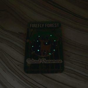 Firefly Forest Hard Enamel Pin Glow in the Dark