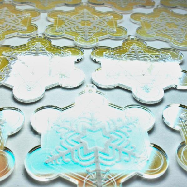 Sacred Geometry Snowflake Acrylic Decoration