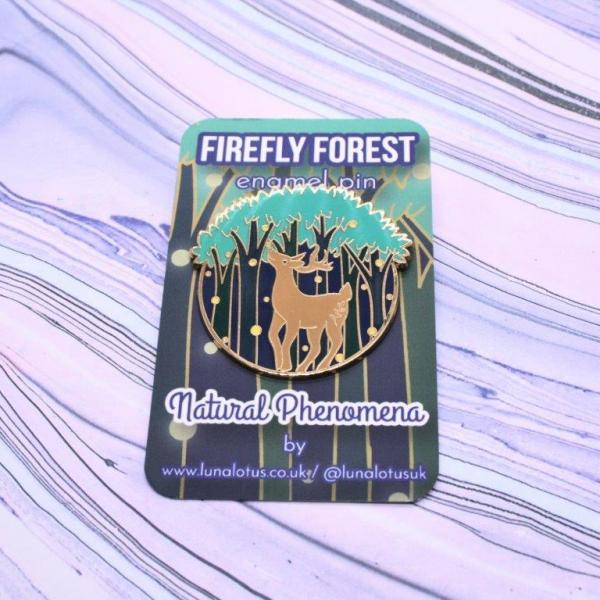 Firefly Forest Hard Enamel Pin Glow in the Dark