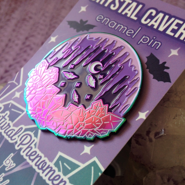 Crystal Cavern Rainbow Plated Enamel Pin