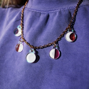 Moonbeam Iridescent Moon Phase Necklace by Luna Lotus