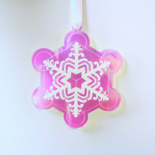 Sacred Geometry Snowflake Acrylic Decoration