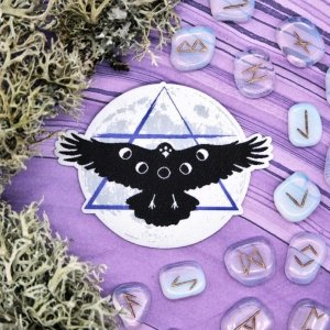 Crow Moon Patch Glow in the Dark