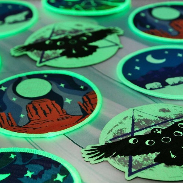 Luna Lotus Glow in the Dark Patch Collection