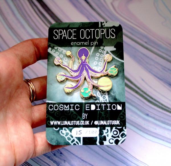 Space Octopus Enamel Pin Cosmic Edition