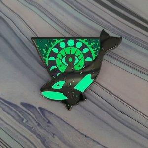 Orca Water Elemental Pin