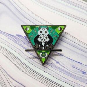 Panda Cub Earth Elemental Pin