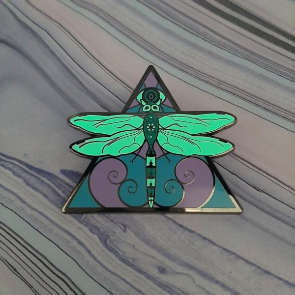 Dragonfly Air Elemental Pin