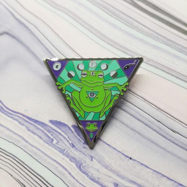 Frog Water Elemental Pin