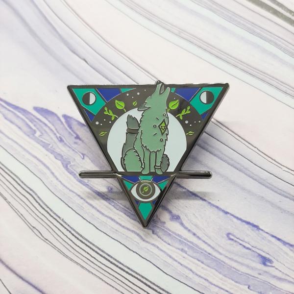 Wolf Moon Earth Elemental Pin