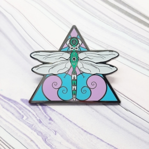 Dragonfly Air Elemental Pin