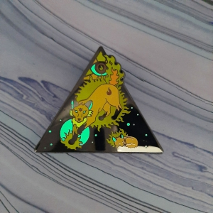 Fox Fire Elemental Pin