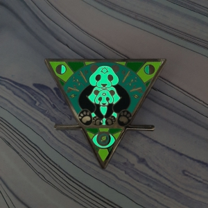 Panda Cub Earth Elemental Pin