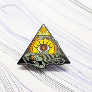 Scorpion Fire Elemental Pin