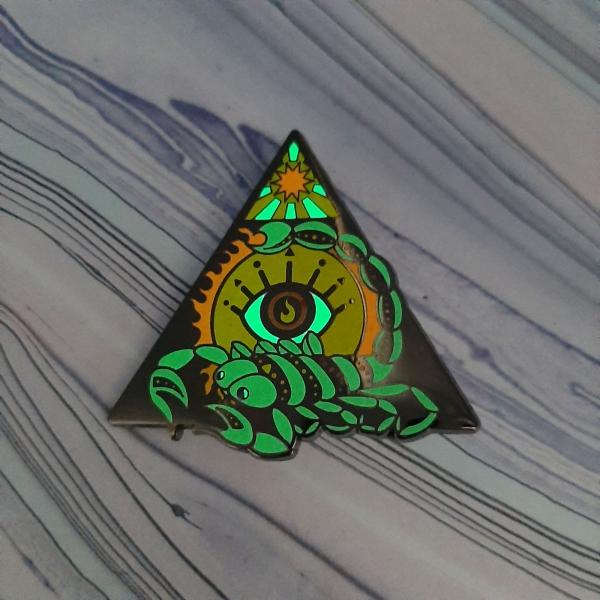 Scorpion Fire Elemental Pin