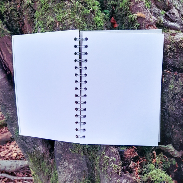 Luna Lotus Custom Illustrated A5 Journal Sketchbook Notebook