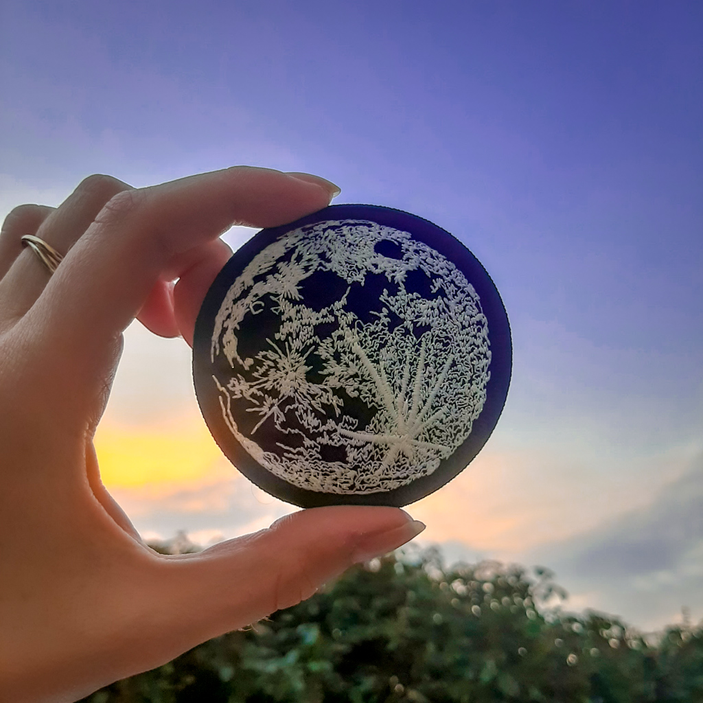 Luna Lotus Glow in the Dark Moon Patch
