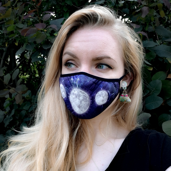 Luna Lotus Moon Face Mask