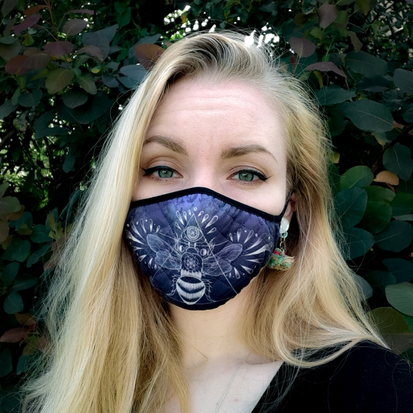 Luna Lotus Bee Face Mask